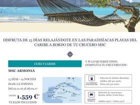 CRUCERO POR CUBA Y CARIBE CON VUELOS INCLUIDOS
